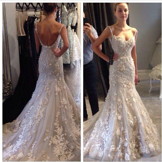 Discount 2015 Hot Selling Spaghetti Straps Mermaid Wedding Dresses Sweetheart Backless Sleeveless Lace Applique Court Train Bridal Gowns Online with $158.49/Piece | DHgate