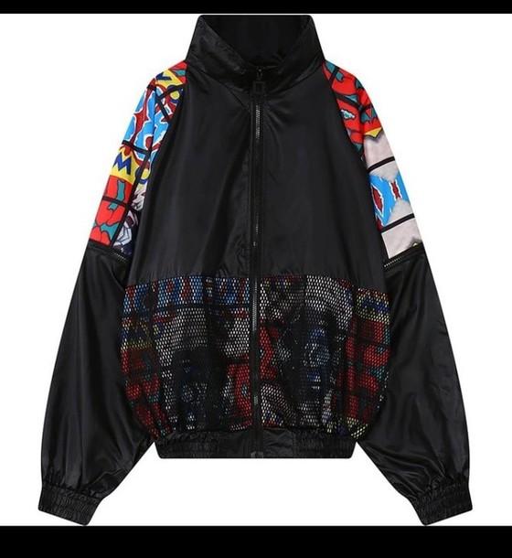 jacket black windbreaker