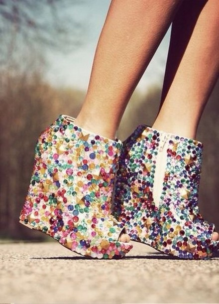 95938a10f45 shoes sparkle frankie sandford wedges boots sexy colorful colorful