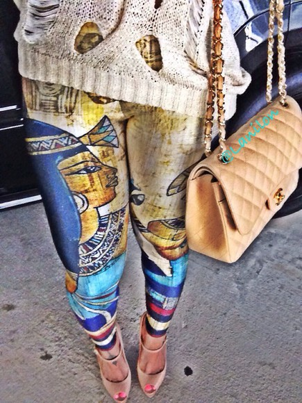 Black Milk chanel leggings sweater christian louboutin