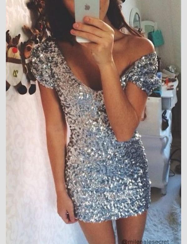 clubwear dress sequins homecoming dress dress #black #backless silver dress glitter dress sparkly dress sparkly dress