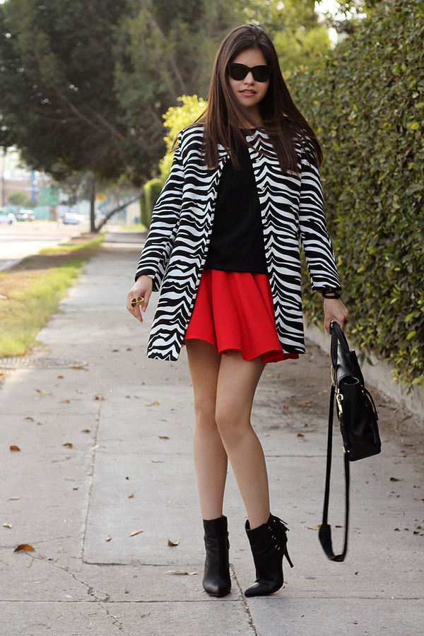 fake leather coat sweater skirt sunglasses shoes jewels