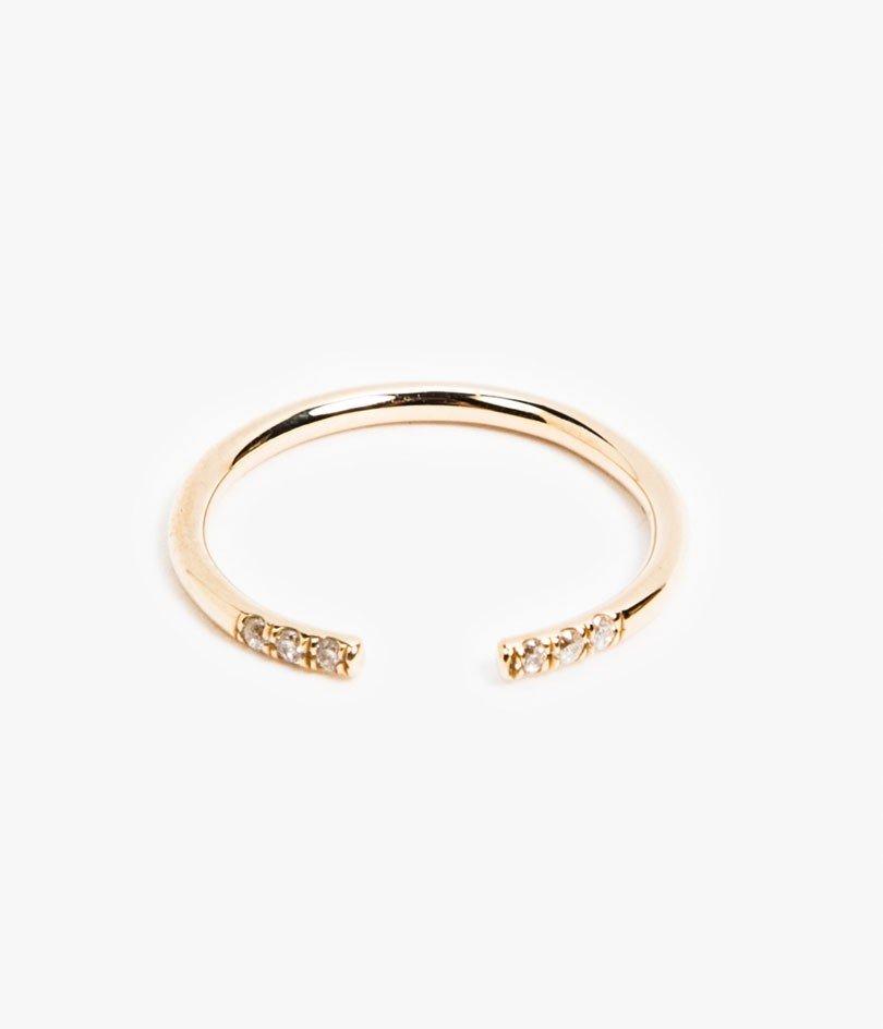White equilibrium cuff ring