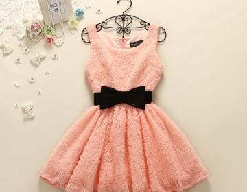 Line mini party dress ..