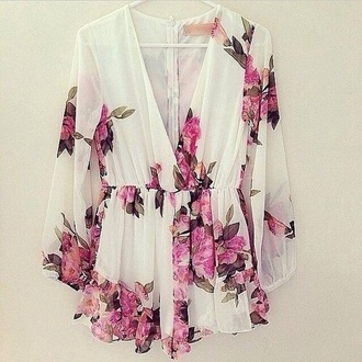dress floral cute v neck pretty hipster tumblr indie summer
