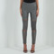 Leather and suede lace-up legging - grey