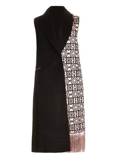 EDUN coat sleeveless coat sleeveless weave black