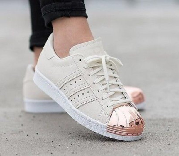 18ff91f414 shoes adidas nude sneakers adidas superstars