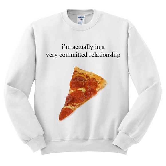 sweater pizza pizza shirt fall outfits sweatshirt pullover