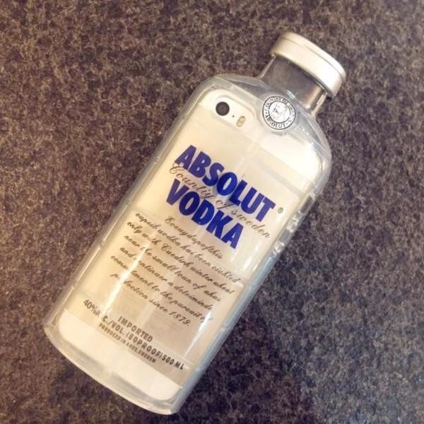 phone cover iphone case iphone 5 case vodka alcohol vodka bottle