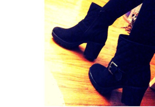 shoes black boots boots