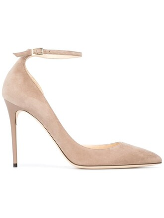 women 100 pumps leather nude suede shoes