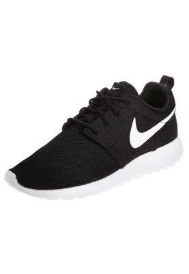 Nike Sportswear ROSHERUN - Baskets basses - black/white/volt - ZALANDO.FR