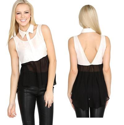 Tuxedo girl black and cream top · trendyish · online store powered by storenvy