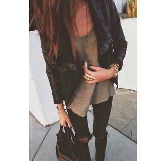 cardigan blazer black blazer casual chic accessories accessorize top cute jewelry jewels jewelry ring watch necklace bag tumblr tumblr outfit outfit idea fashion inspo blogger trend blogger fashionista style styled stylish trendy trend on point clothing cute