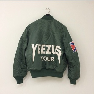jacket bomber jacket kanye west. yeezus world tour