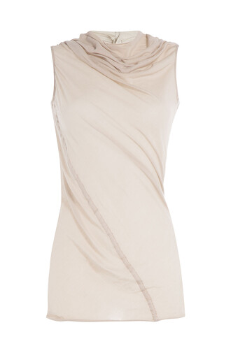 top draped cotton beige