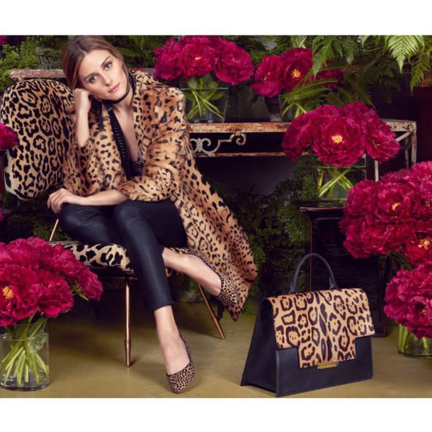 coat shoes olivia palermo purse animal print leopard print ballet flats blogger fur leather pants leather leggings black bag printed ballerinas leopard printed ballerinas
