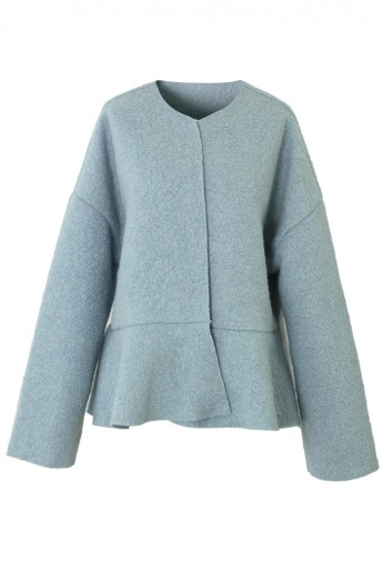 Blue Peplum Coat - Retro, Indie and Unique Fashion