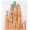 Good vibes rings set jewelry silver palm finger ring gift lovers peace | awesome world - online store