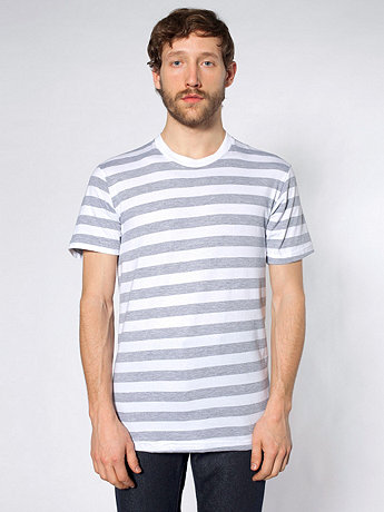 Fine Jersey Stripe Short Sleeve T-Shirt | American Apparel