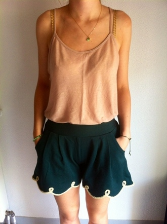 shorts casual classy green green shorts forest green