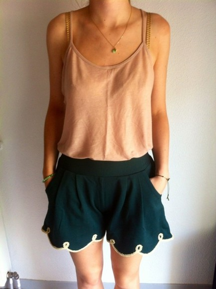 chic shorts casual green green shorts