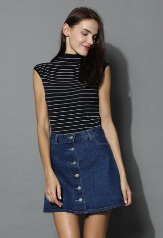 top sleeveless ribbed top in stripes chicwish stripes sleeveless top chicwish top