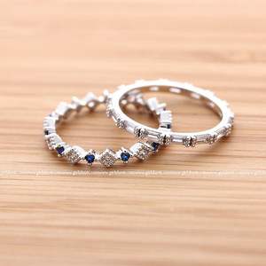 jewels jewelry ring band band ring crystals sapphires blue white silver