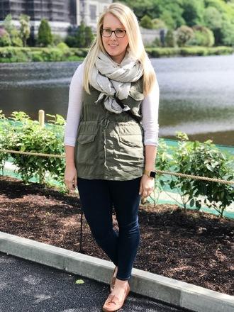 franish blogger jacket jeans t-shirt scarf shoes bag vest loafers skinny jeans