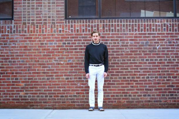 fashion goggled blogger sweater shoes socks belt