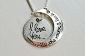 jewels,accessories,i love you,necklace,bestfriend necklace,i love you to the moon and back necklace