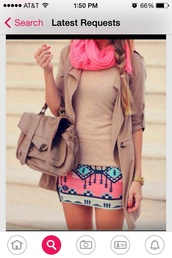 scarf,bright pink