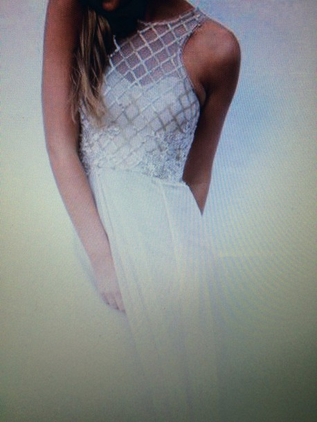 dress cream prom dress maxi dress tunic dress