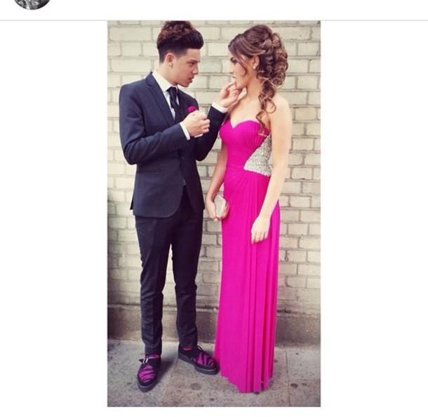 dress pink dress prom dress long dress