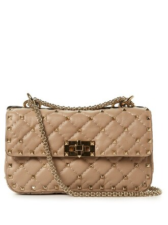 cross mini quilted bag leather nude