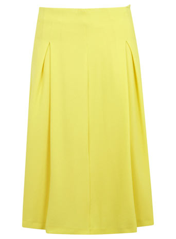 Yellow A Line Mid Length Skirt - Miss Selfridge