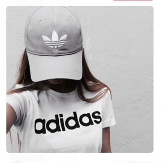 hat cap adidas logo grey adidas originals