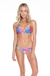 top,bikini top,blue,halter top,luli fama,print,triangle,bikiniluxe