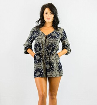 romper boho fashion style long sleeves hot pattern summer festival free vibrationz