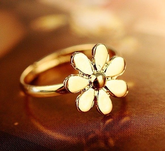 FD394 18K Gold Plated Princess Queen Ring Flora Daisy Flowers Lolita Rings 1pc | eBay