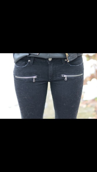 jeans zip skinny jeans girly