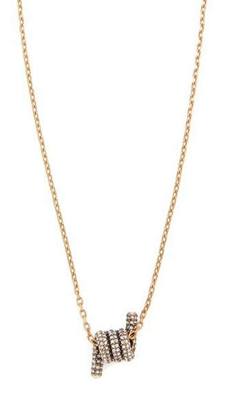 short necklace pendant gold jewels