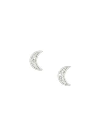 mini metallic women moon earrings stud earrings jewels