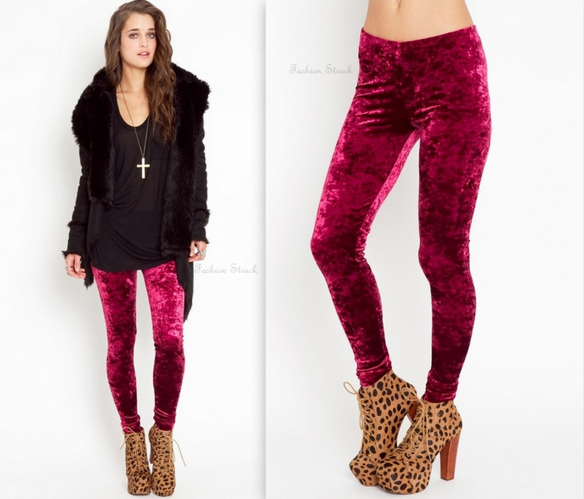 Crushed velvet leggings · fashion struck · online store powered by storenvy