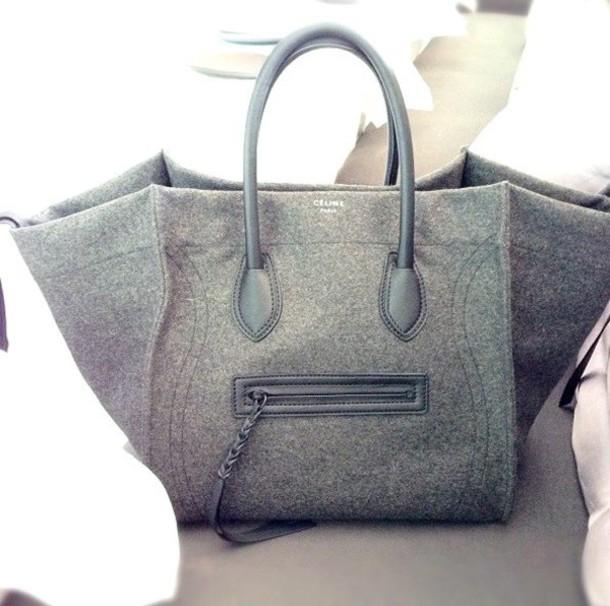 bag grey celine bag