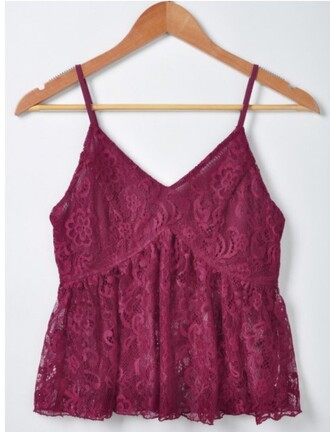 top burgundy red fashion style trendy summer lace spring trendsgal.com