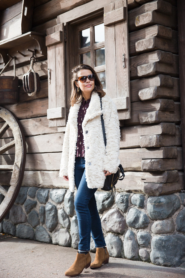 collage vintage coat shirt jeans shoes bag