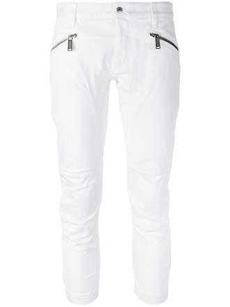 women spandex white cotton pants