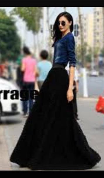 skirt black velvet skirt